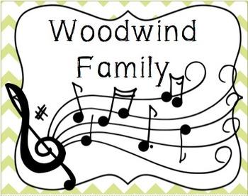 Woodwind Family Cascading Flip Book