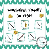 Music Go Fish matching card game - Woodwind Family