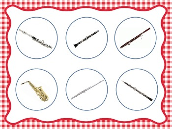 Woodwind Family Identification - File Folder Game/Music Room Centers