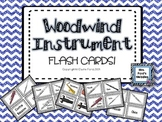 Woodwind Instrument Flash Cards & Matching Game
