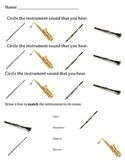 Woodwind Instrument Sound Worksheet