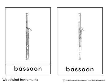 Woodwind Instruments 3 Part Cards