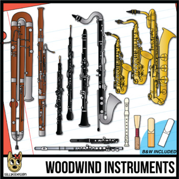 Woodwind Musical Instrument Clip Art