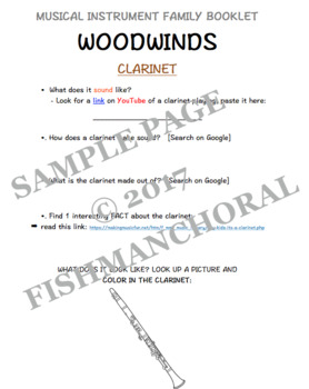 Woodwinds Instrument Family - Digital Booklet