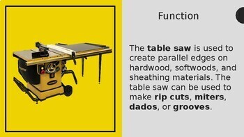 Woodworking Table Saw Safety Lecture Test