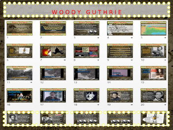 Woody Guthrie: 25 slides with text, hyperlinks & primary sources (with handouts)