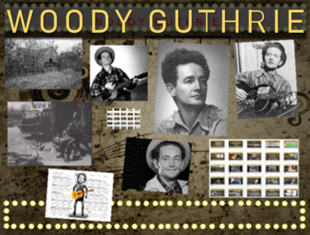 Woody Guthrie: 25 slides with text, hyperlinks & primary s