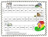 Woof the Bulldog OO and U Word Game Literacy Station RF.1.3, RF.2.3