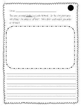 Woolbur Writing Activity