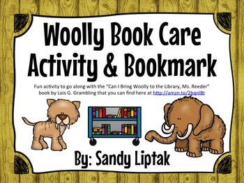 Woolly Book Care Activity & Bookmarks
