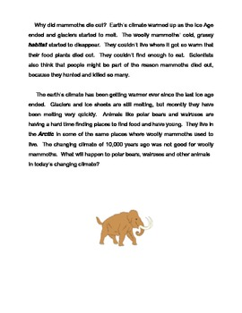 Woolly Mammoths and the Ice Age in North America; a mini-unit for grade 3