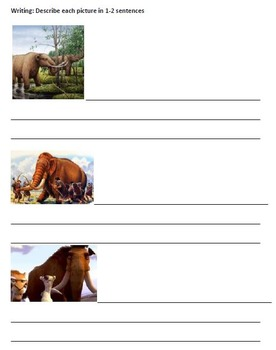Wooly Mammoth - Review Article Questions Activites Vocabulary Writing