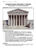 Worcester v. Georgia Landmark Case Activity / The Question