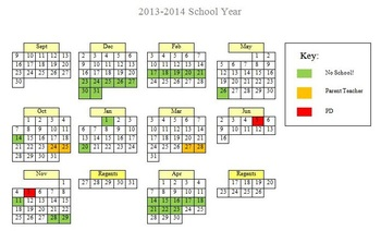 Word Document: 2013-2014 School Calendar