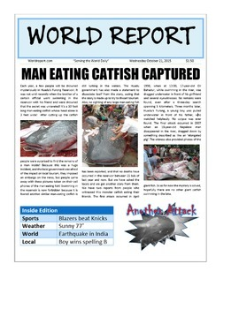 Project Based Learning Create a Newspaper using Microsoft Word PBL