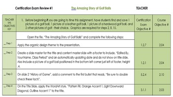 PowerPoint 2013 Review/MOS Exam Review:  The Amazing Story of Golf Balls