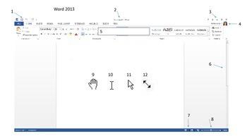 Word 2013 Terminology Worksheet