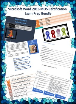 Microsoft Word 2016 MOS Certification Exam Prep Bundle