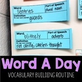 Word A Day Vocabulary Builder