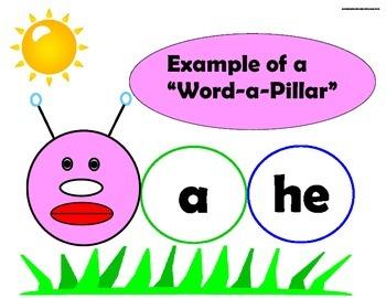 Word A Pillar (Sight Word Caterpillar)