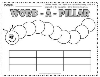 Word-A-Pillar Sight Word Game - Fry Words
