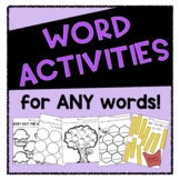Word Activity Pages