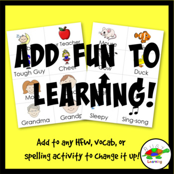 Silly Voices Cards: High Frequency Words, Spelling, Vocabulary, Sight Words Game