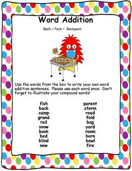 Word Addition! Adding to create compound words