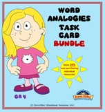 Word Analogies Task Card Bundle