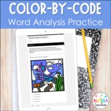 Word Analysis Digital Activity for Google Forms™   Color by Code   SOL 5.4