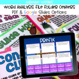Word Analysis File Folder Center BUNDLE (Google Classroom & PDF)