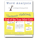 End of the year - Word Analysis Mini Unit
