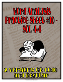 Word Analysis QR Code Practice Sheet 10 - SOL 4.4