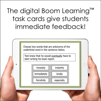Word Analysis Task Cards (SOL 4.4) with Interactive Digital Option