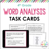 Word Analysis Task Cards (SOL 4.4) with Interactive Digita