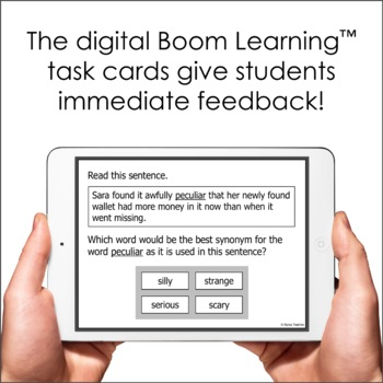 Word Analysis Task Cards (SOL 5.4) with Interactive Digital Option
