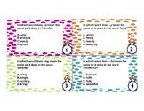 Word Analysis Task Cards VA SOL 4.4b