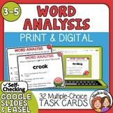 Word Analysis Task Cards