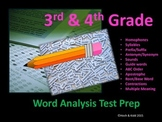 SOL Word Analysis/Language Arts Test Prep - Grades 3 & 4