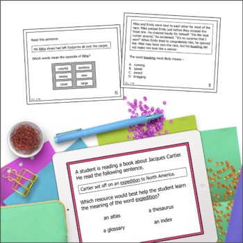 Word Analysis & Word Reference Materials Task Cards (SOL 3.3, 3.4 & 3.7)