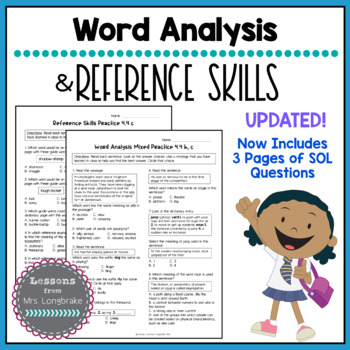 Reading SOL 4.4b,c Word Analysis and Reference Skills Practice