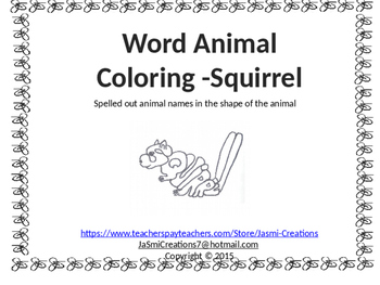 Word Animal - Squirrel
