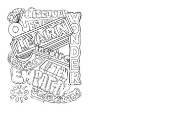 Word Art Coloring Sheet