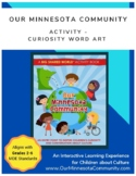 Word Art Coloring Sheet: An Our Minnesota Community activi