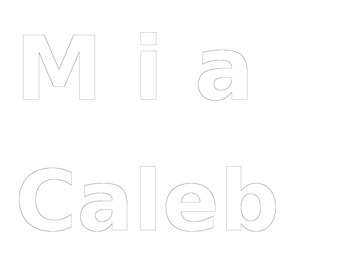 Word Art Student Names Template