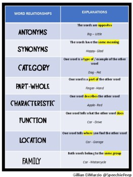 Word Association Visual