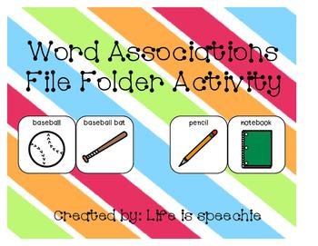 Word Associations: File Folder Activity