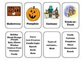 Word Associations Halloween Flash Cards