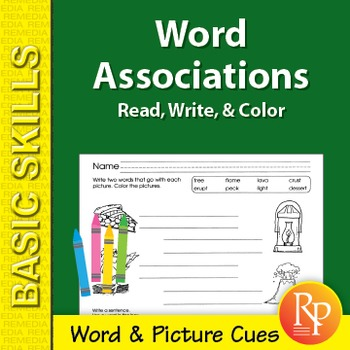 Word Associations: Read, Write, & Color 2