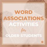 Word Associations Word Retrieval/Vocabulary Activity for S